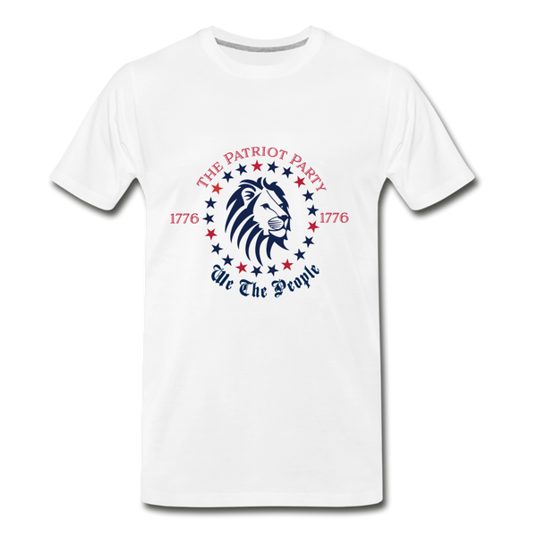 Patriot Party - We The People Men's Premium T-Shirt - white
