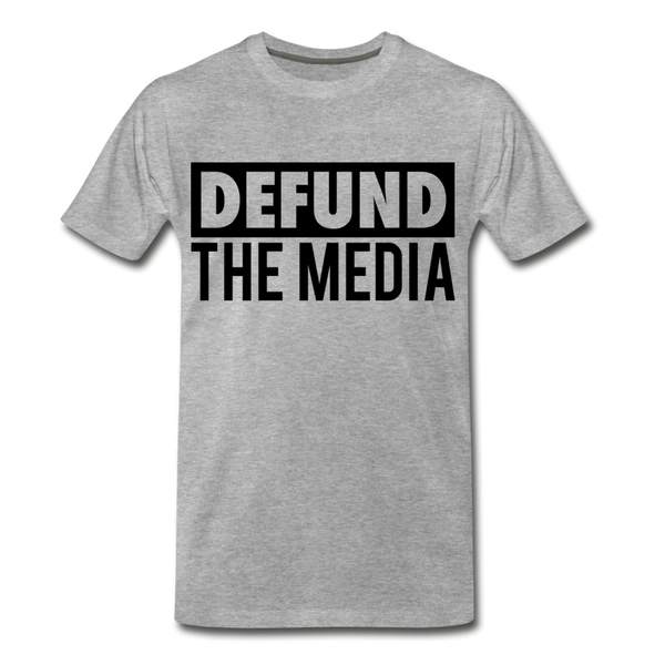 Defund The Media Men's Premium T-Shirt - heather gray