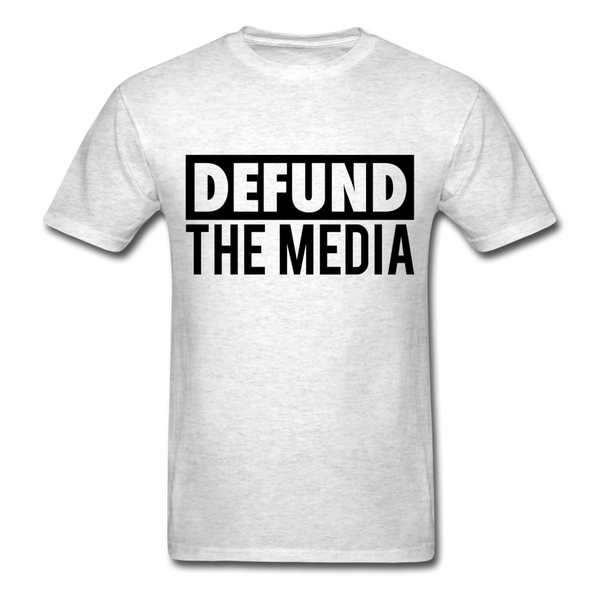 Defund The Media Unisex Classic T-Shirt - light heather gray