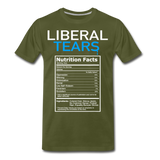 Liberal Tears Nutrition Facts Men's Premium T-Shirt - olive green