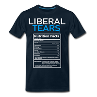 Liberal Tears Nutrition Facts Men's Premium T-Shirt - deep navy