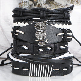 Owl Leather Bracelet (NEW)