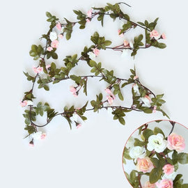 230cm Silk Rose Artificial Flowers Hanging Garland