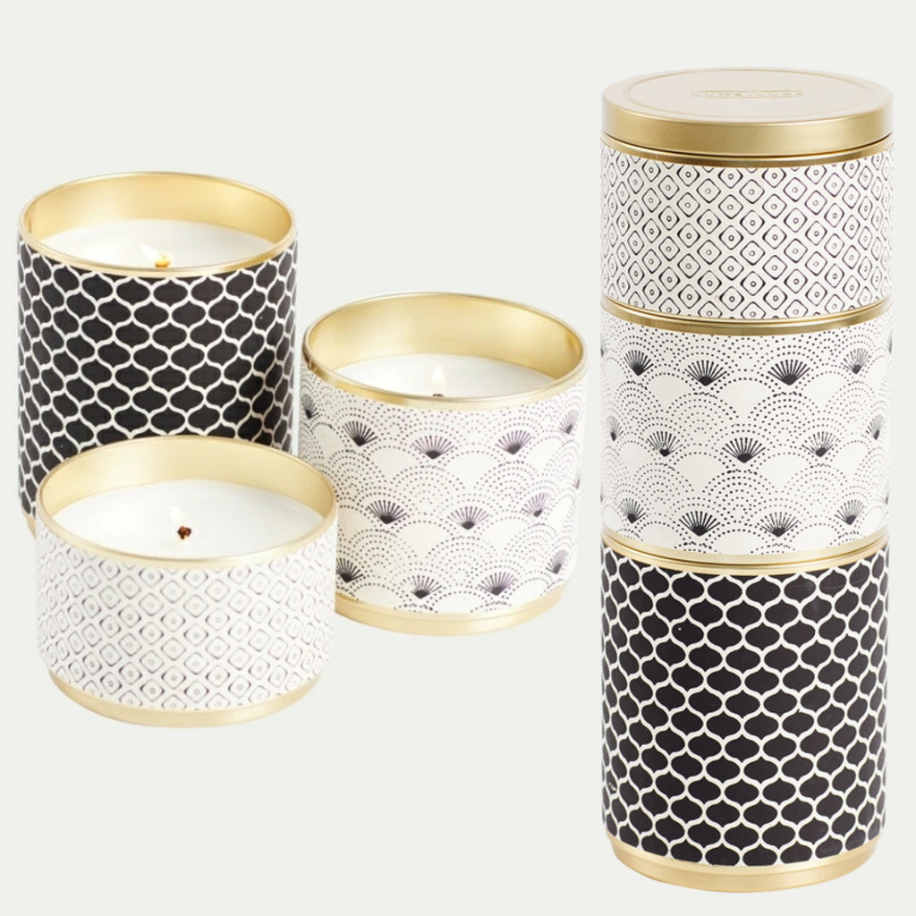 Round Candles (stackable set of 3) Various Colours available