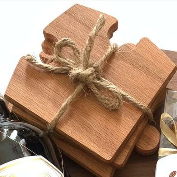 Coasters Set of 6 (Oak)