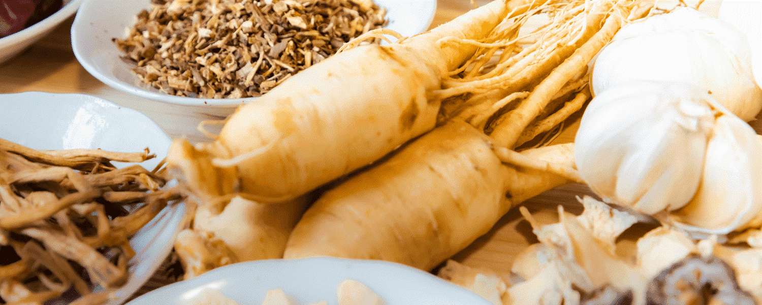 racines ginseng rouge