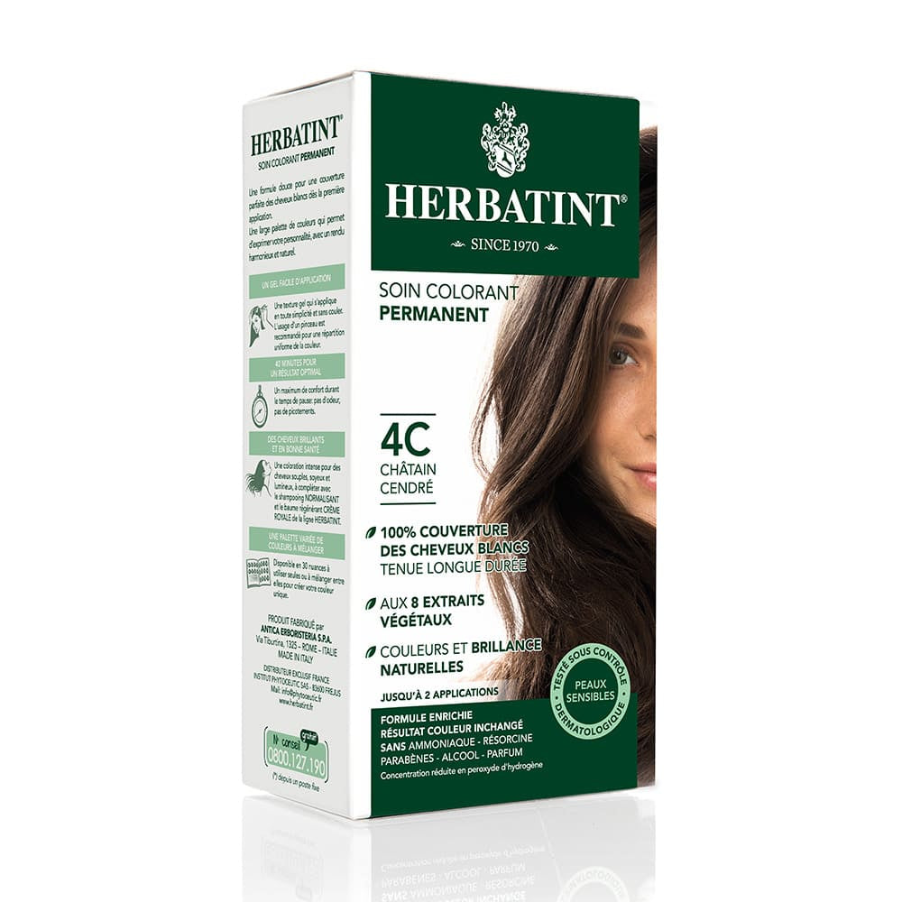 Coloration Cheveux Herbatint 4C Chatain cendré