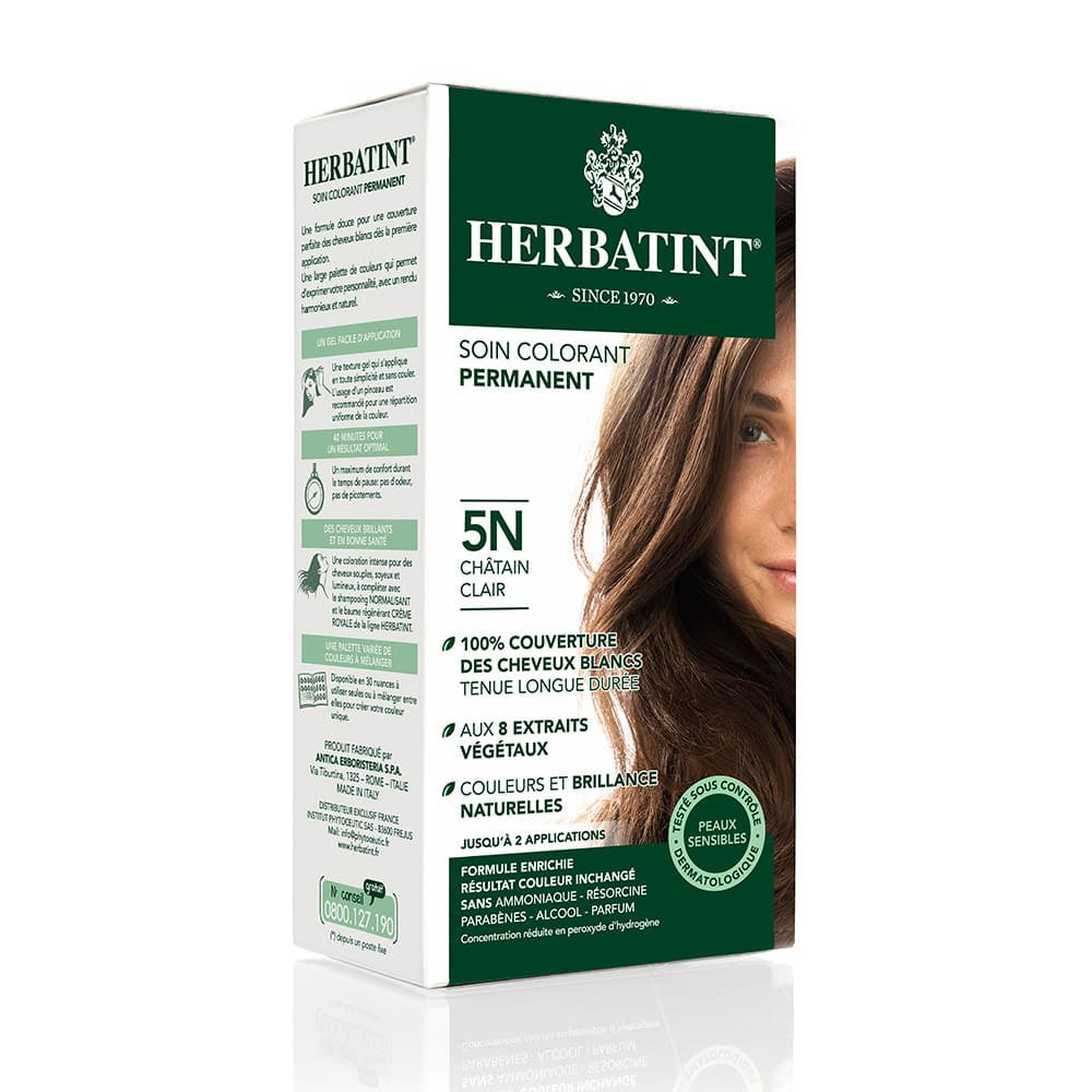 Coloration Cheveux Herbatint 5N Chatain clair