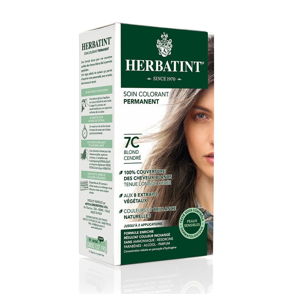Coloration Cheveux Herbatint 7C Blond cendré