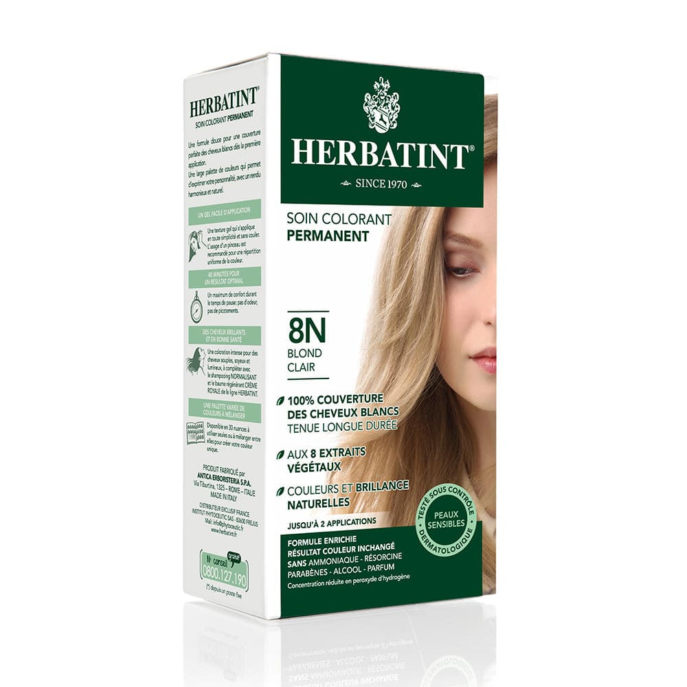 Coloration Cheveux Herbatint 8N Blond clair