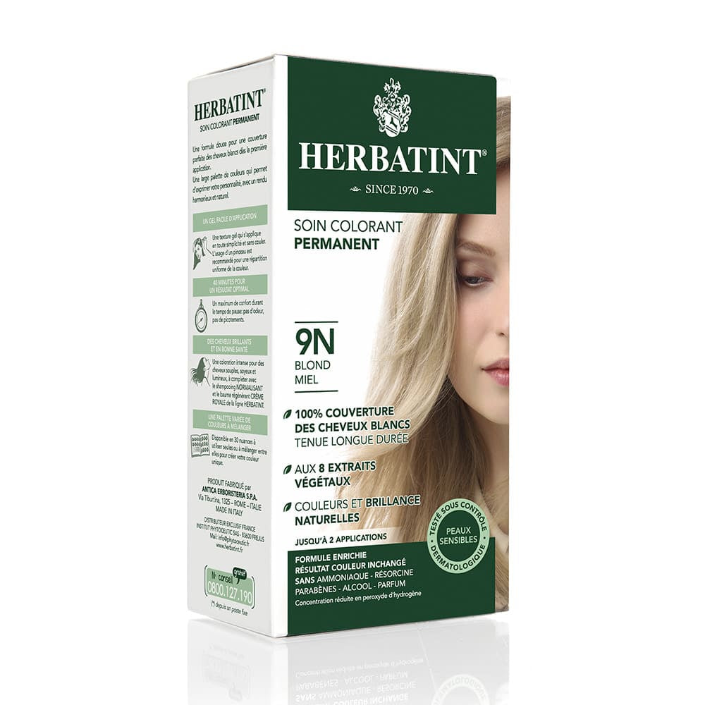 Coloration Cheveux Herbatint 9N Blond miel