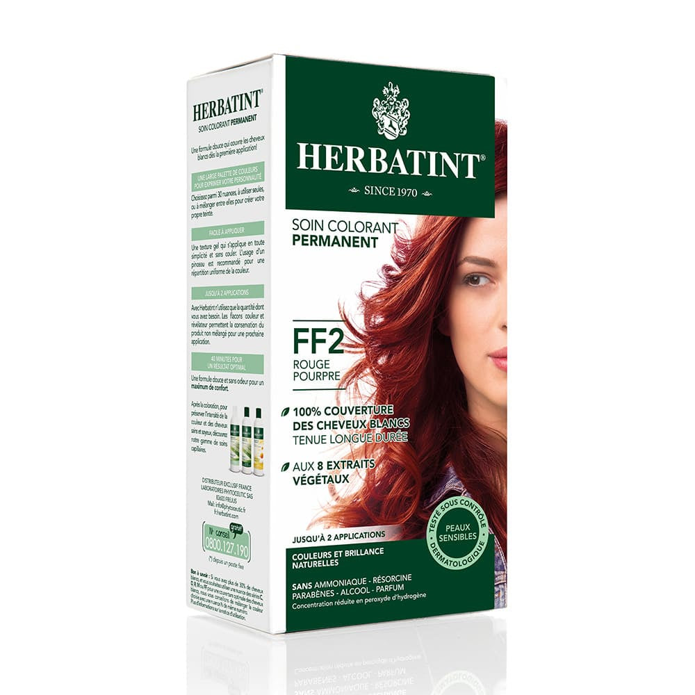 Coloration Cheveux Herbatint FF2 Rouge pourpre