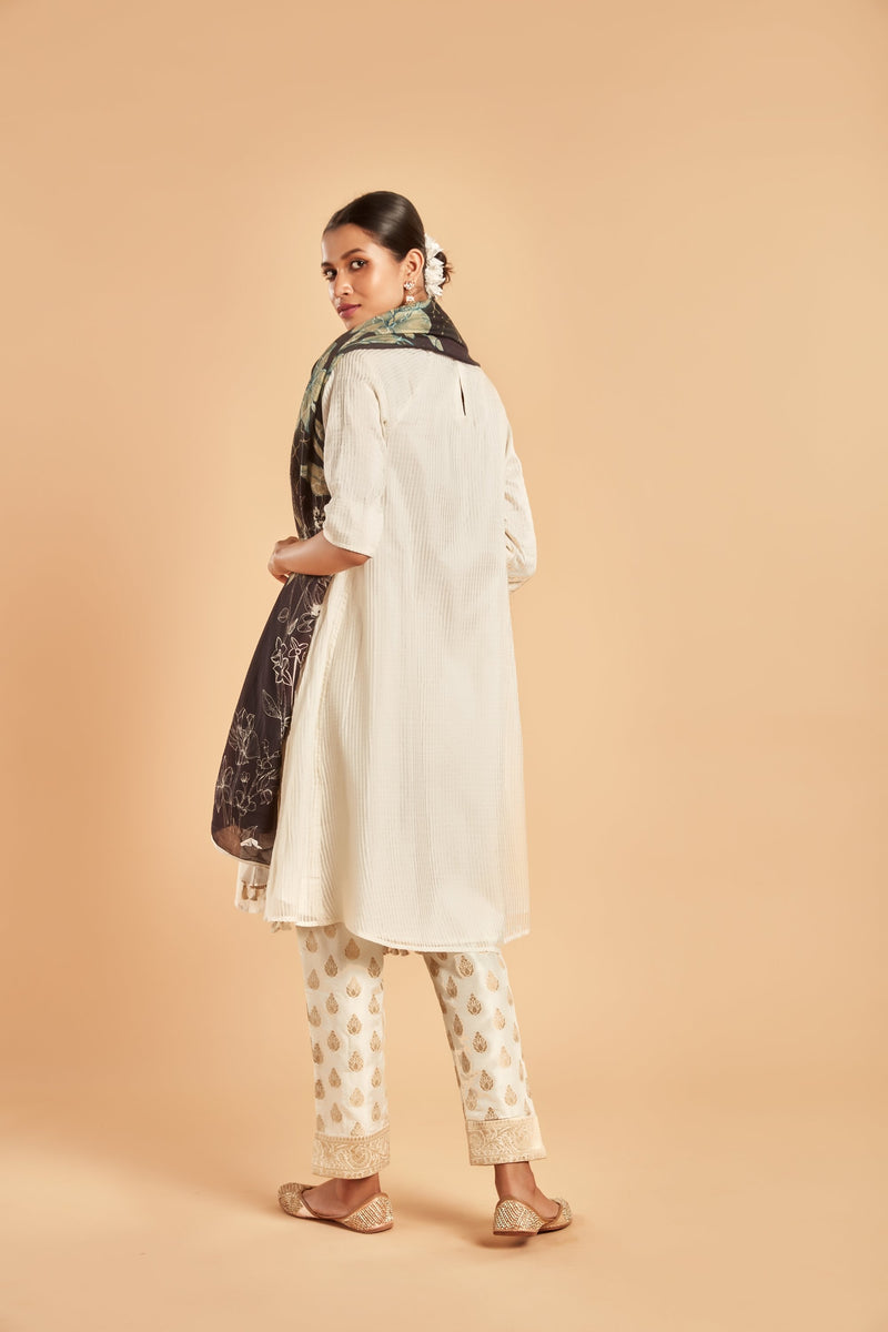 Alaric Raglan Sleeve Kurta Set - Monsoon.thedesignerstore