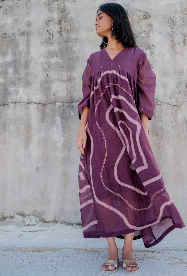 Aubergine Arazi Dress - Monsoon.thedesignerstore