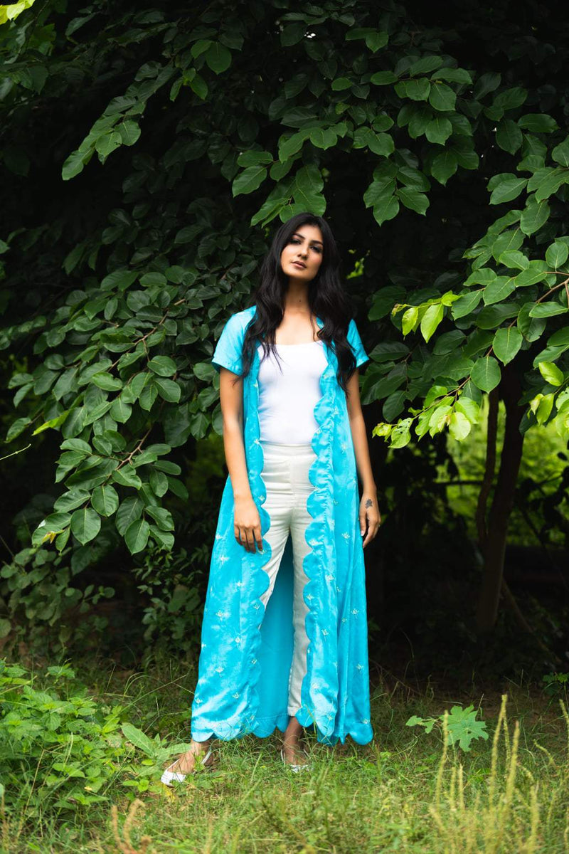 Blue Atoll Scallop Jacket - Monsoon.thedesignerstore