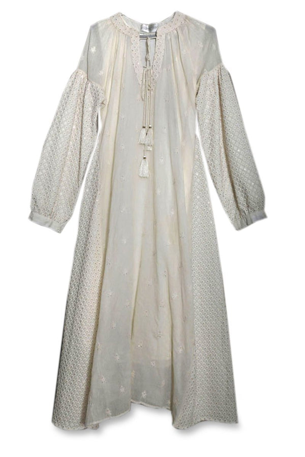 Cream Balloon Sleeve Tunic - Monsoon.thedesignerstore
