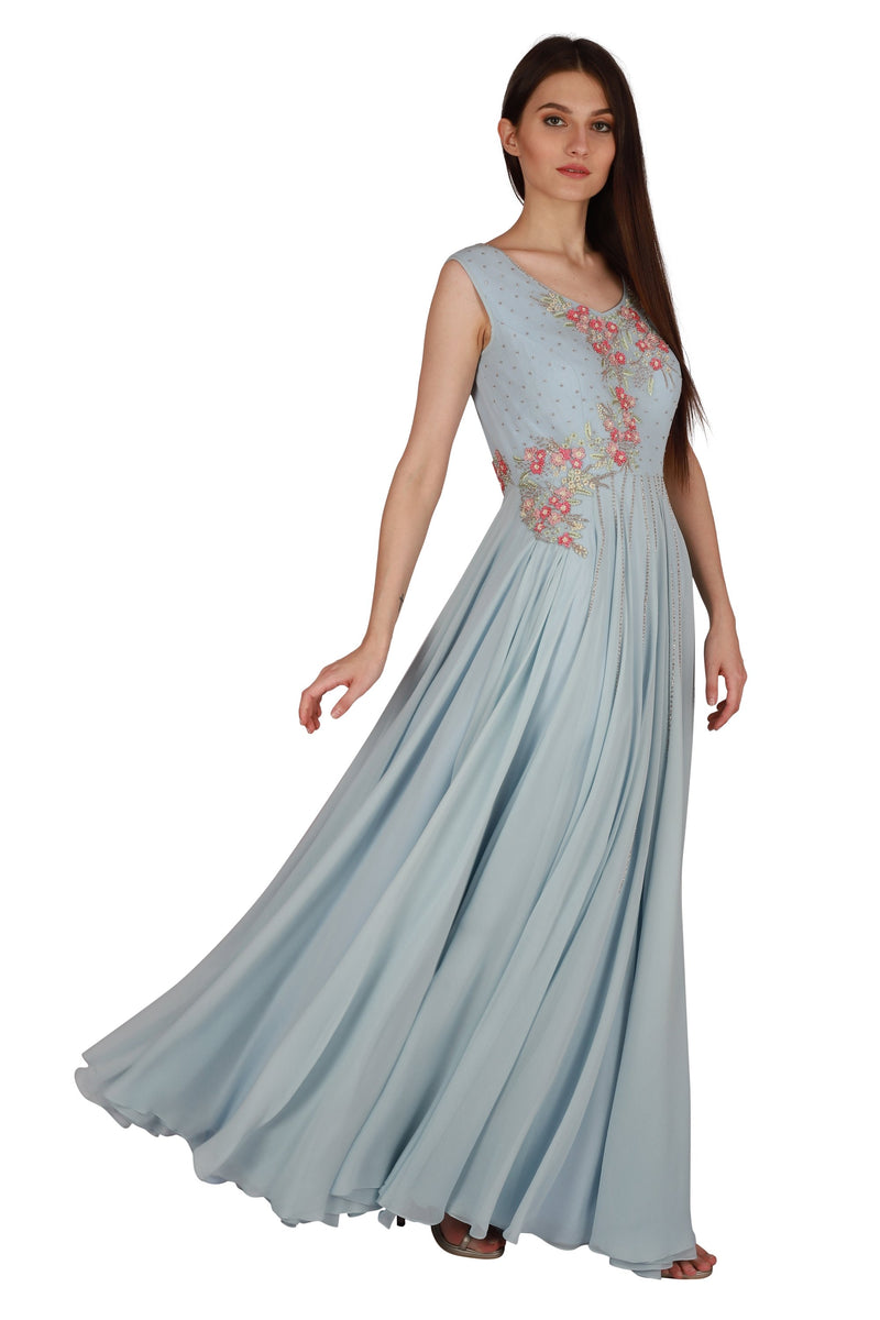 Embroidered gown - Monsoon.thedesignerstore