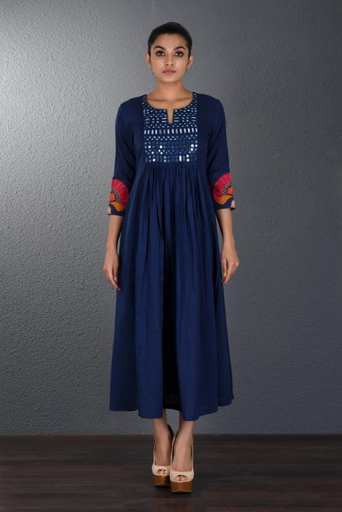 Gathers kurta - Monsoon.thedesignerstore