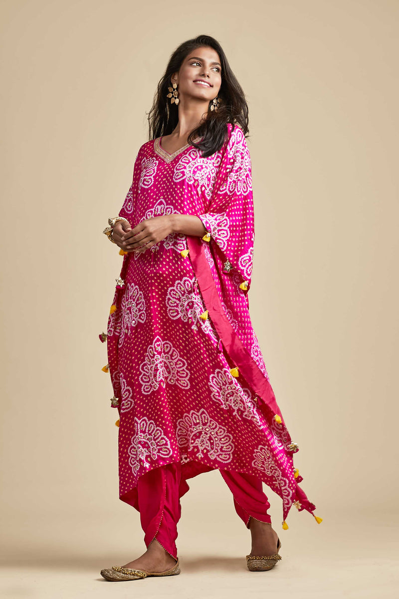 Kaftan with Dhoti - Monsoon.thedesignerstore