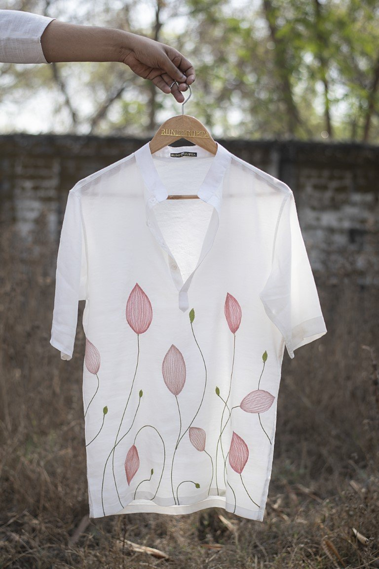 Lotus Bud Line Shirt - Monsoon.thedesignerstore