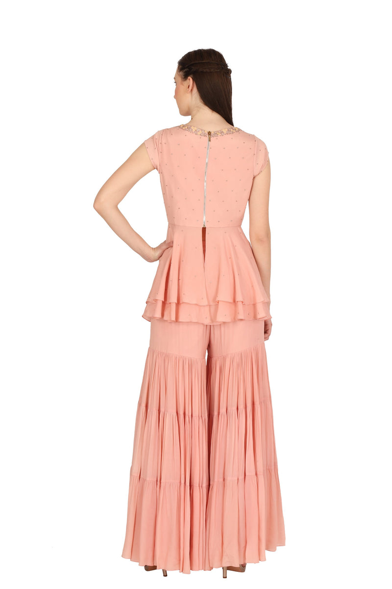 Pink top & sharara pant - Monsoon.thedesignerstore