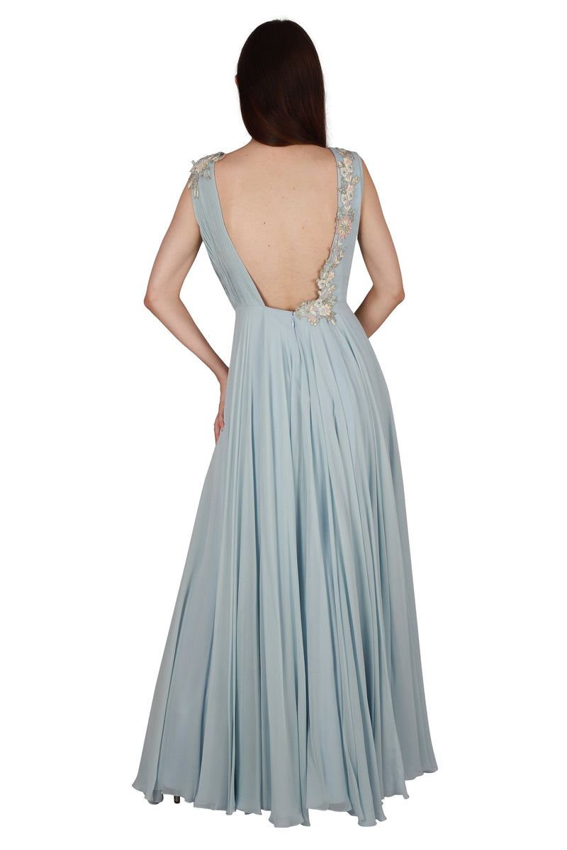 Pleated gown - Monsoon.thedesignerstore