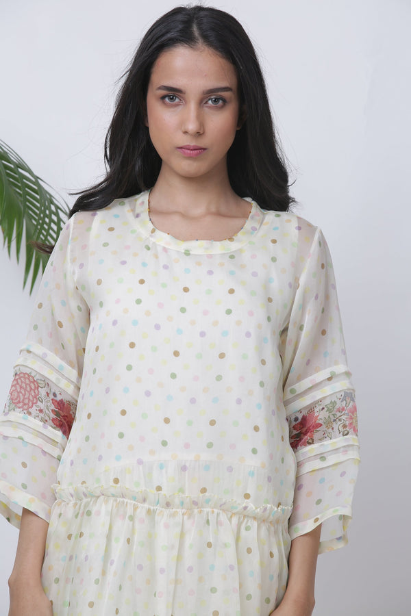 Polka kagji dress and pant - Monsoon.thedesignerstore