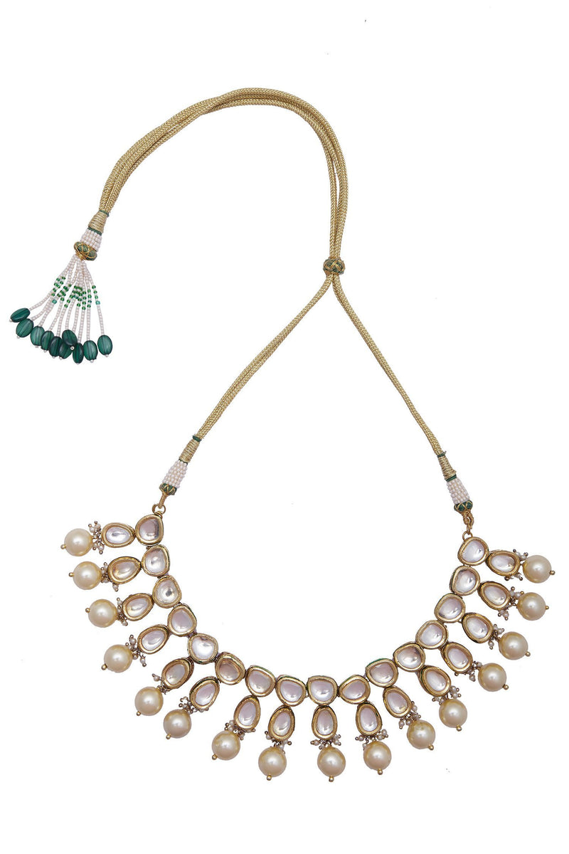 Polki Evergreen Pearl Necklace - Monsoon.thedesignerstore