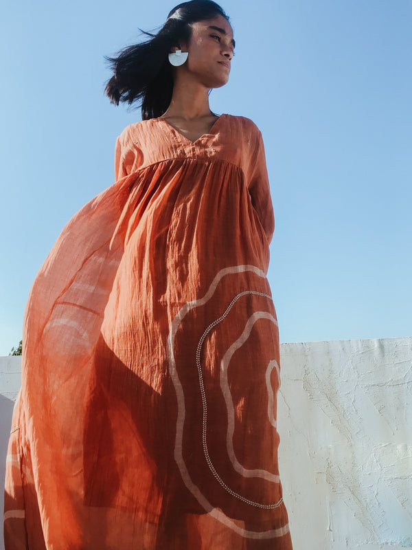 Rust Arazi Dress - Monsoon.thedesignerstore