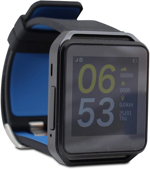 GHIA SMART WATCH / PANTALLA 1.54 TOUCH / BT / IOS / ANDROID / NEGRO - AZUL