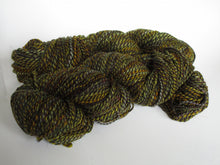 Load image into Gallery viewer, OOAK Hand spun yarn - 20-10 deepest green w/ highlights