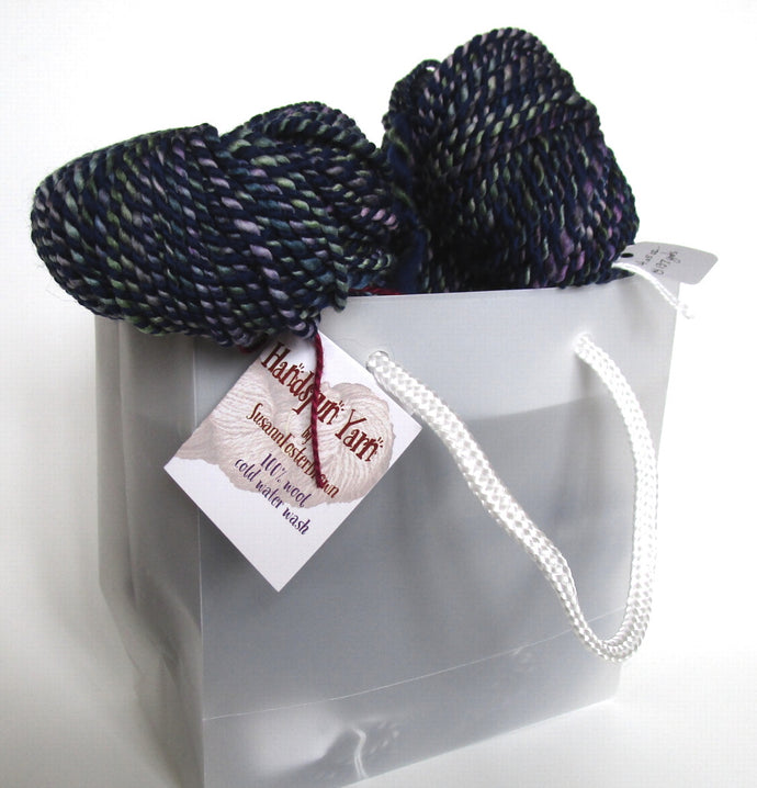 OOAK hand spun yarn - 20-13 navy night sky