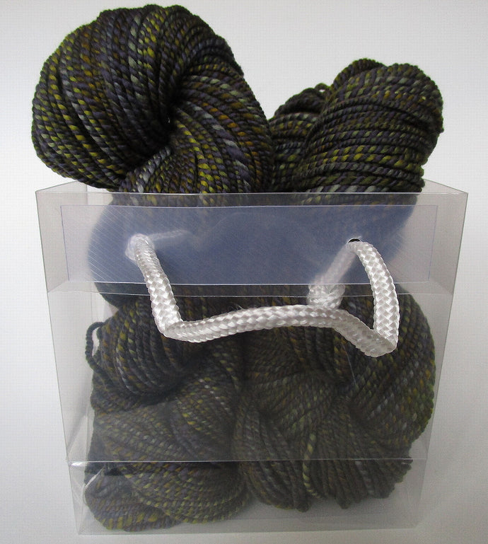 OOAK Handspun Yarn - 20-18 - deep woodland green