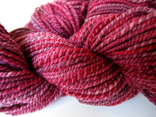 Load image into Gallery viewer, OOAK Handspun Yarn - 20-22 - ripe raspberry