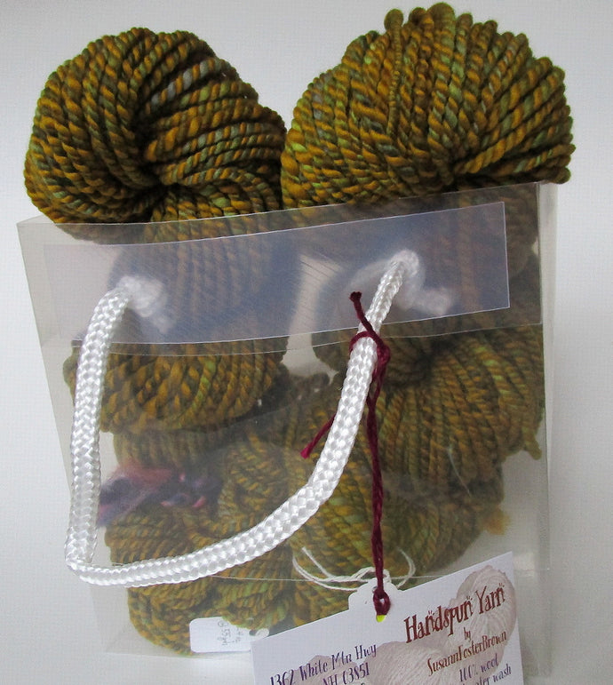 OOAK Handspun Yarn - 20-27 Brass ring