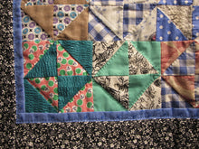 Load image into Gallery viewer, You can see the detail here of the hand quilting I did to emphasize the pattern of the blocks