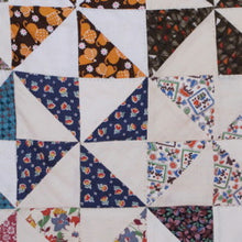 Load image into Gallery viewer, Pinwheel quilt - vintage fabrics