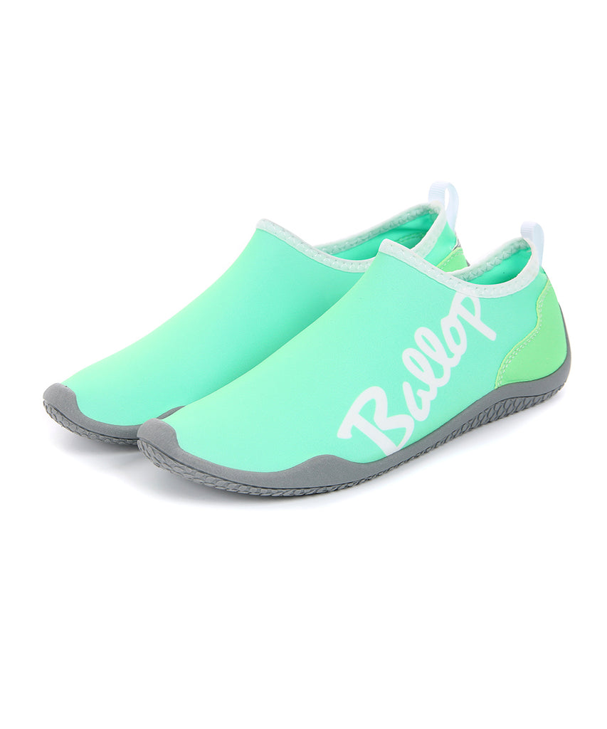 Ballop aqua shoes, Lettering mint