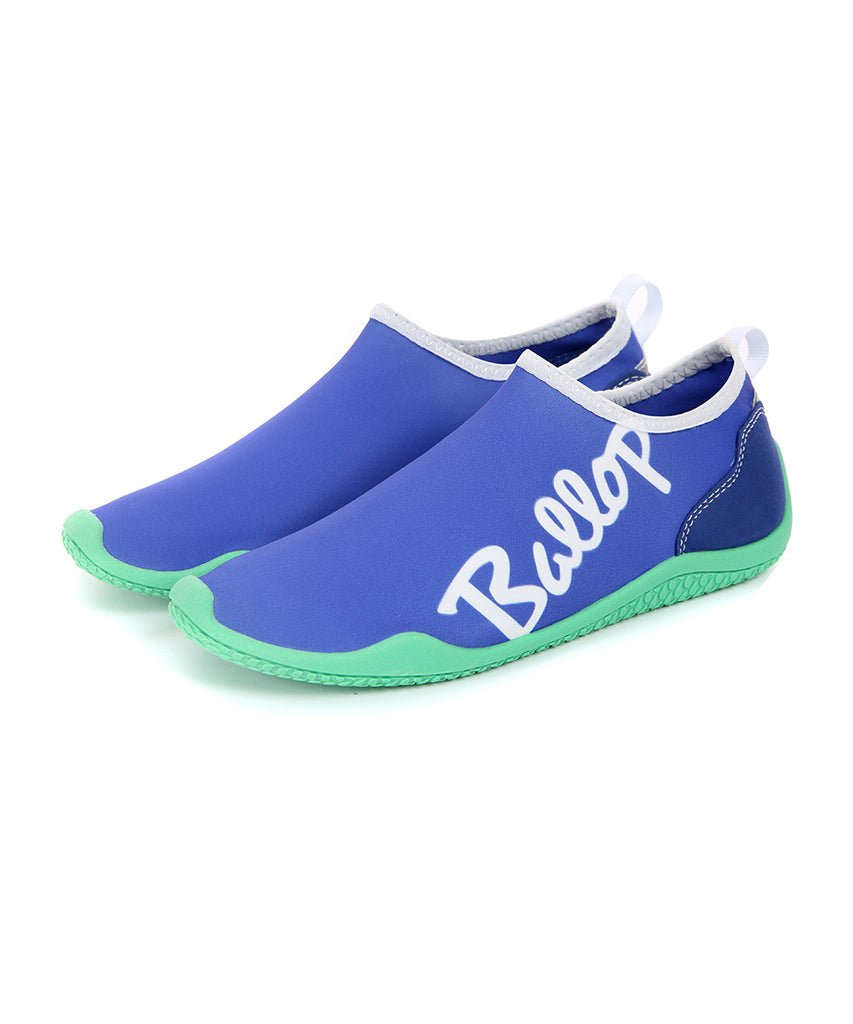 Ballop aqua shoes, Lettering purple