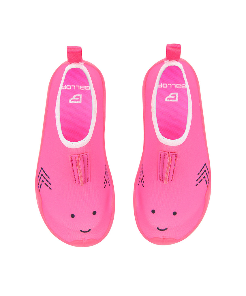 Ballop aqua shoes, Shark kids, pink