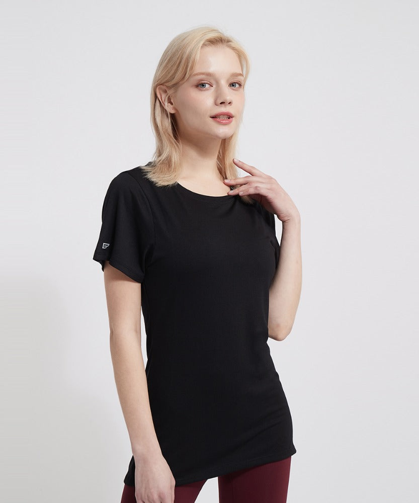 BASIC SHORT-SLEEVED T-SHIRTS, BLACK