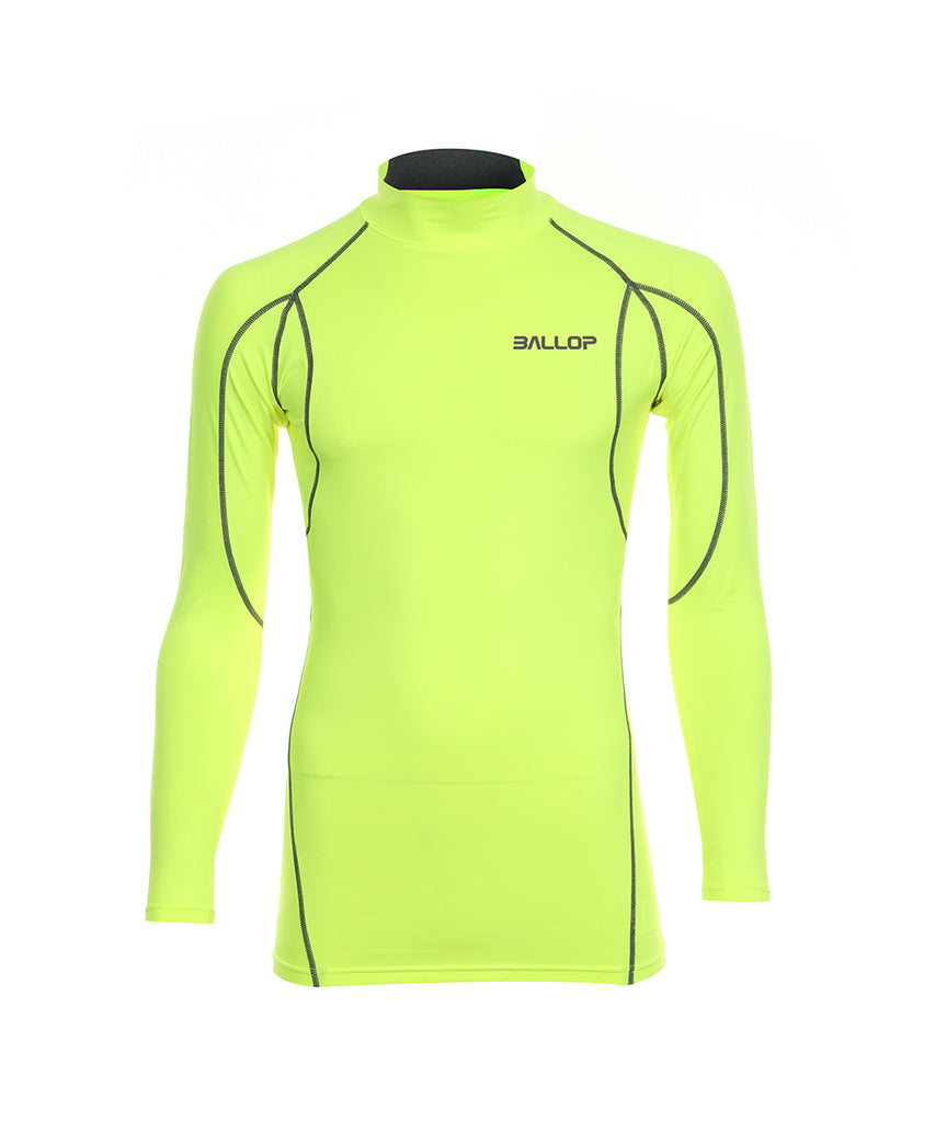 TECHFIT UNDER LAYER NECK ALPHA Neon yellow