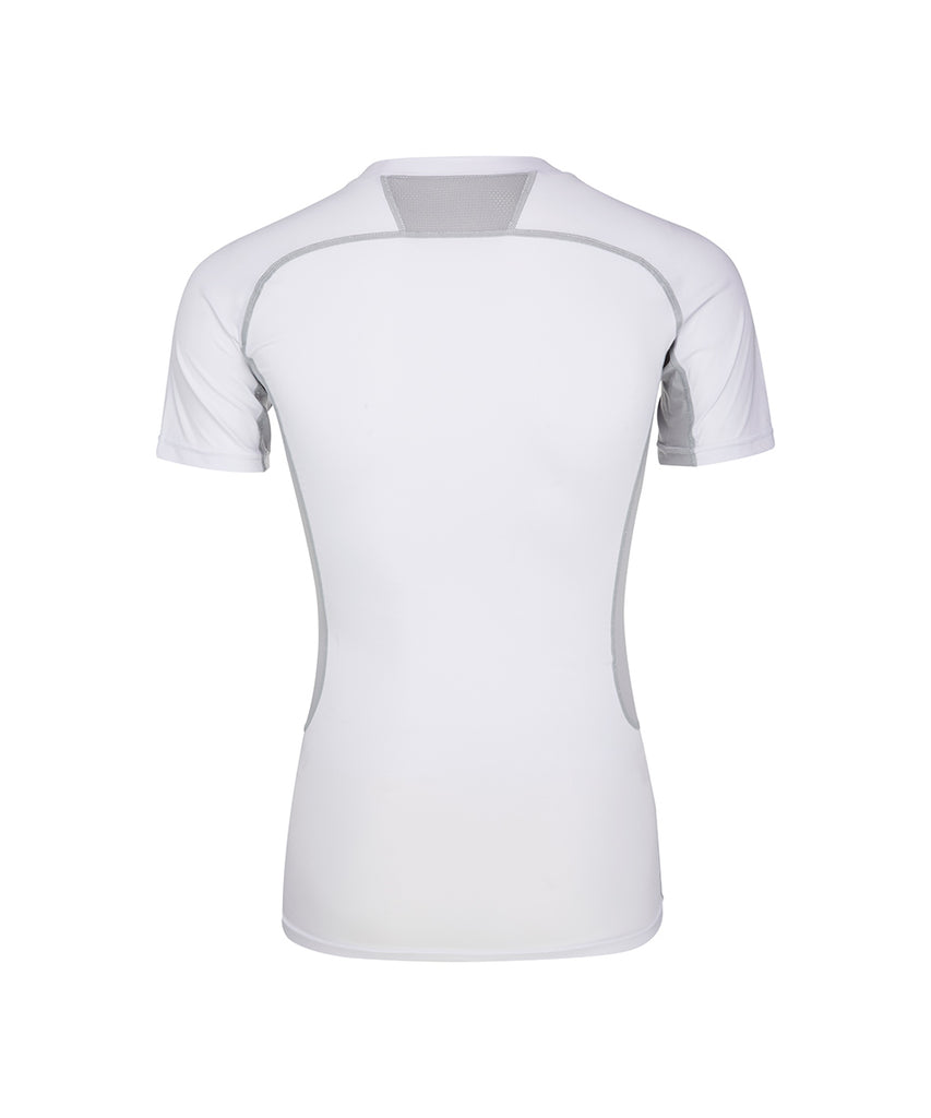 COMPRESSION ROUND SHORT-SLEEVED, WHITE
