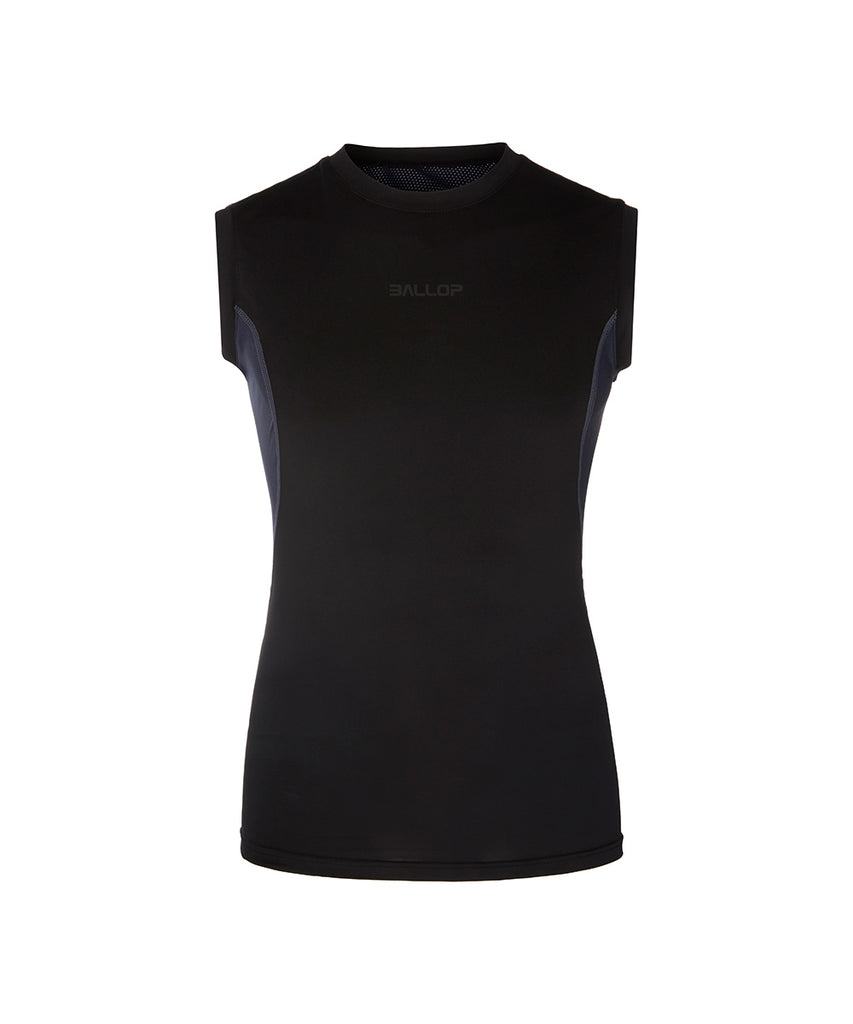 COMPRESSION SLEEVELESS, BLACK