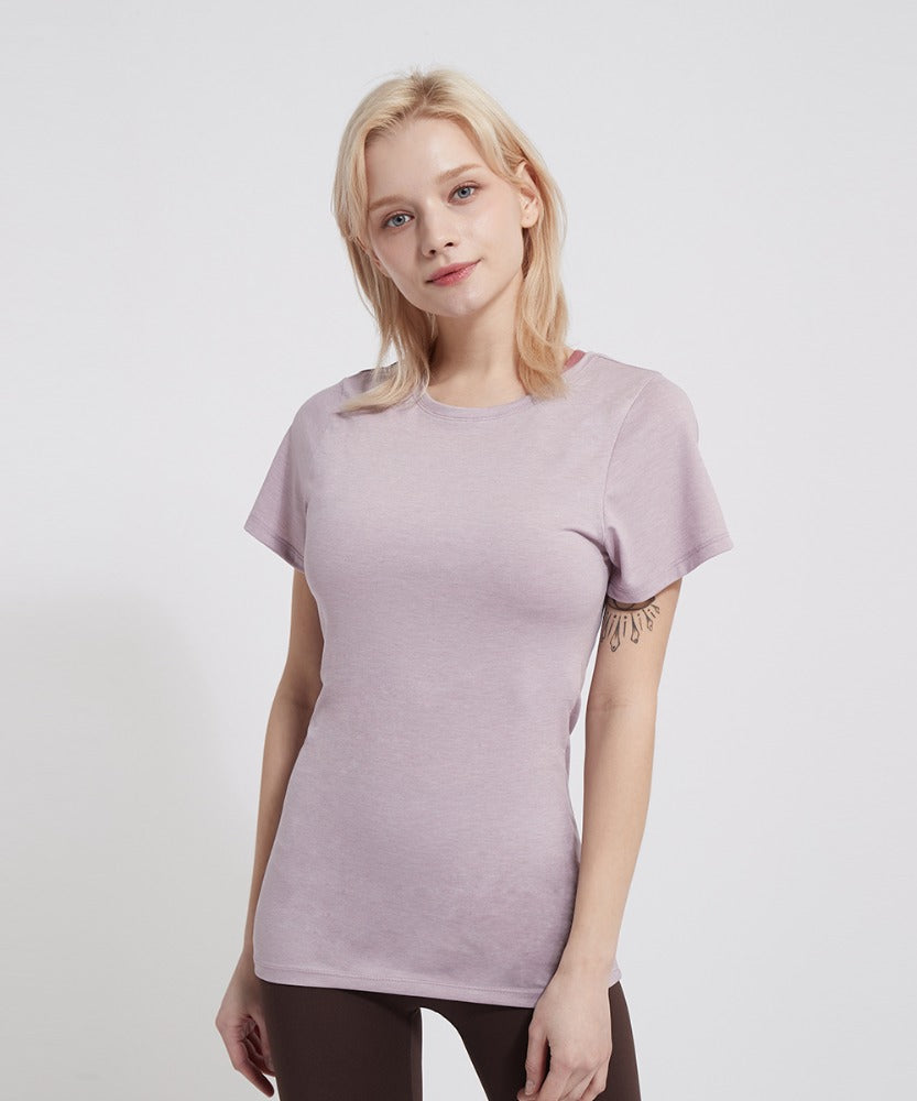 BASIC SHORT-SLEEVED T-SHIRTS, PINK
