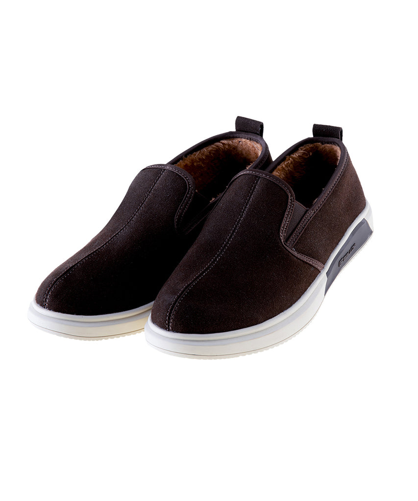 Ballop fur slip on, brown