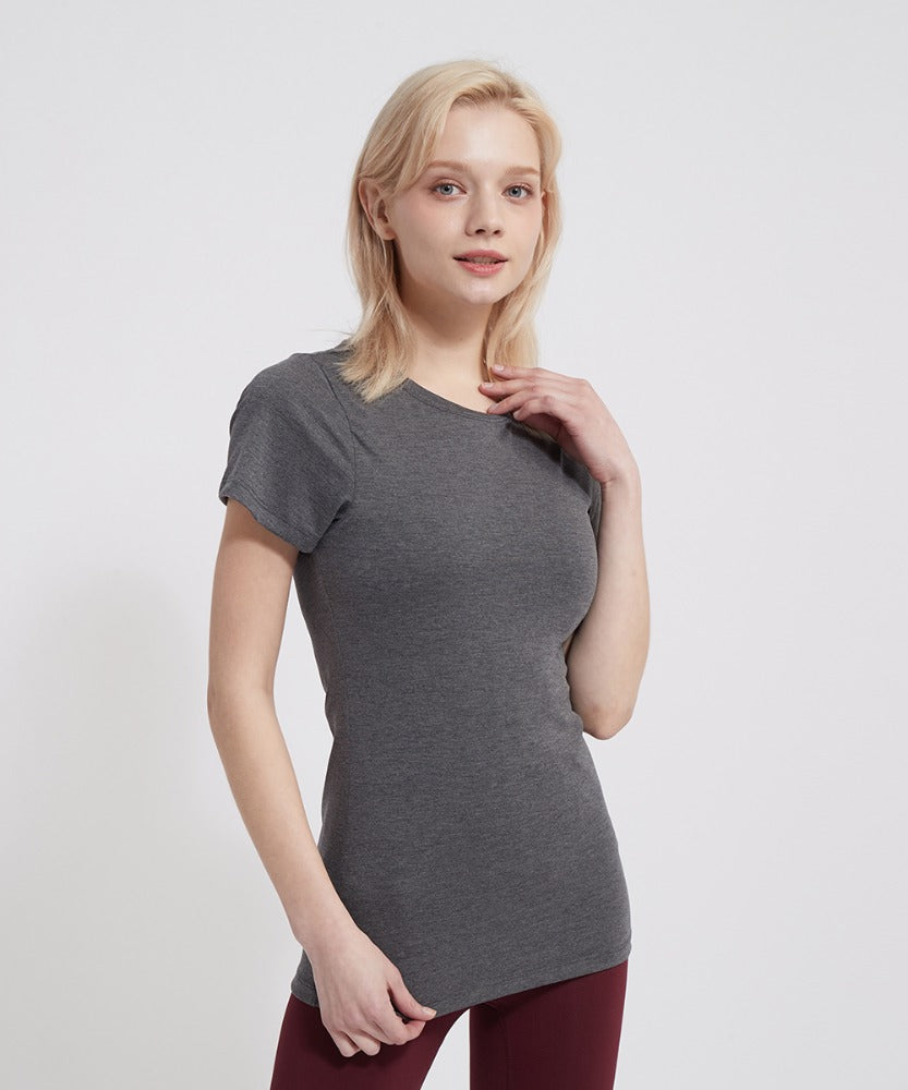 BASIC SHORT-SLEEVED T-SHIRTS, GRAY