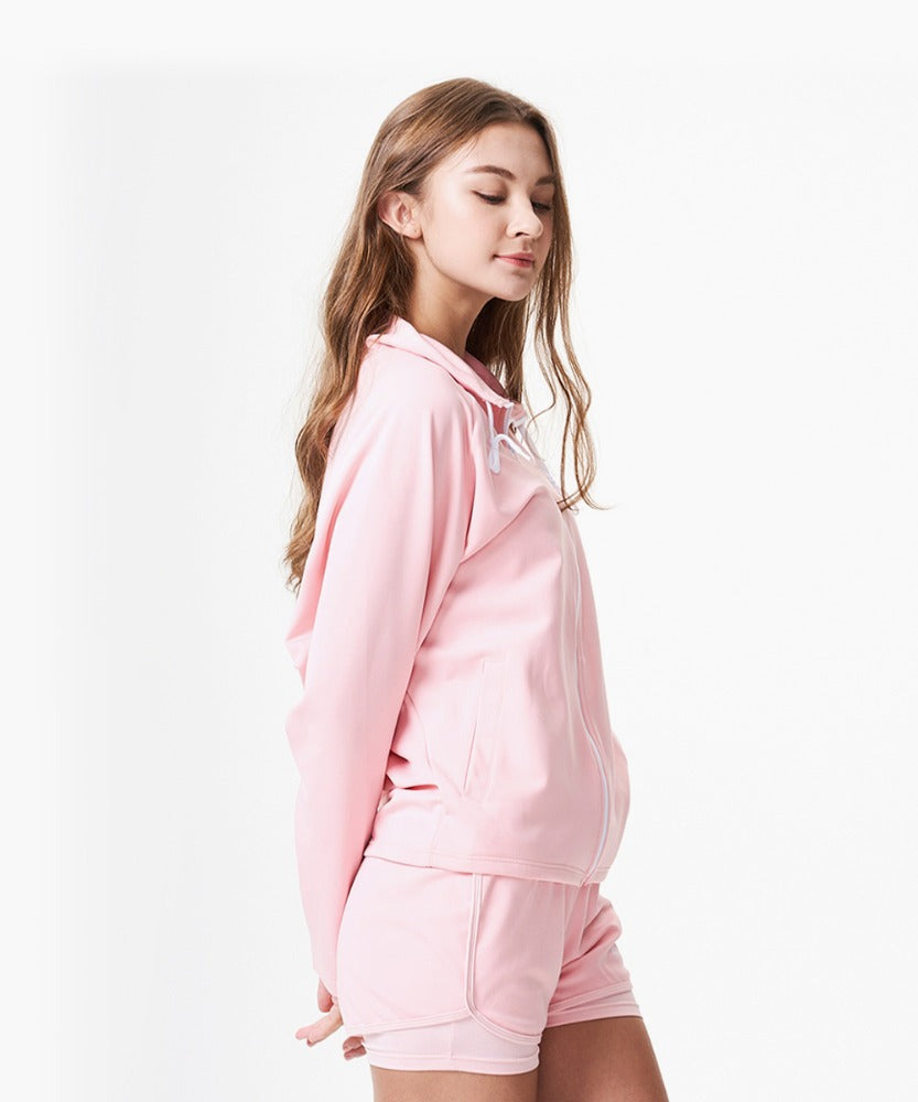 PEACH ZIP UP, PINK