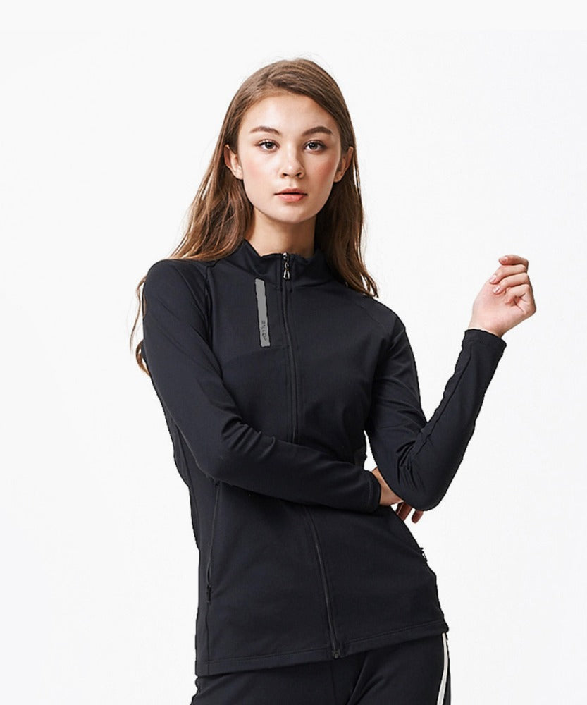 TRAINING EMILY ZIP UP, BLACK
