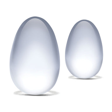 Glass Yoni Eggs Set (2 Pieces)